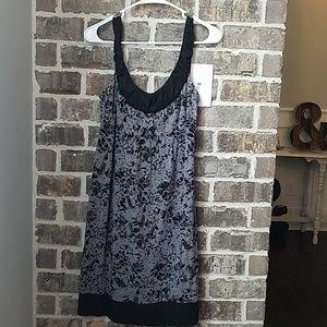 Ann Taylor Loft Gray and Black Dress